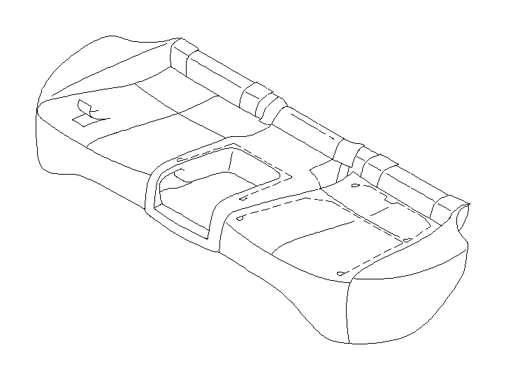 Subaru Forester Wire Set Cushion. (Rear). SEAT, Interior