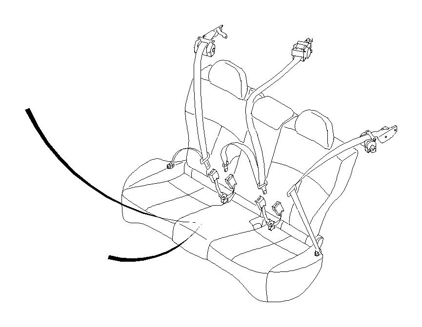 Subaru Forester Seat Belt Lap and Shoulder Belt (Left