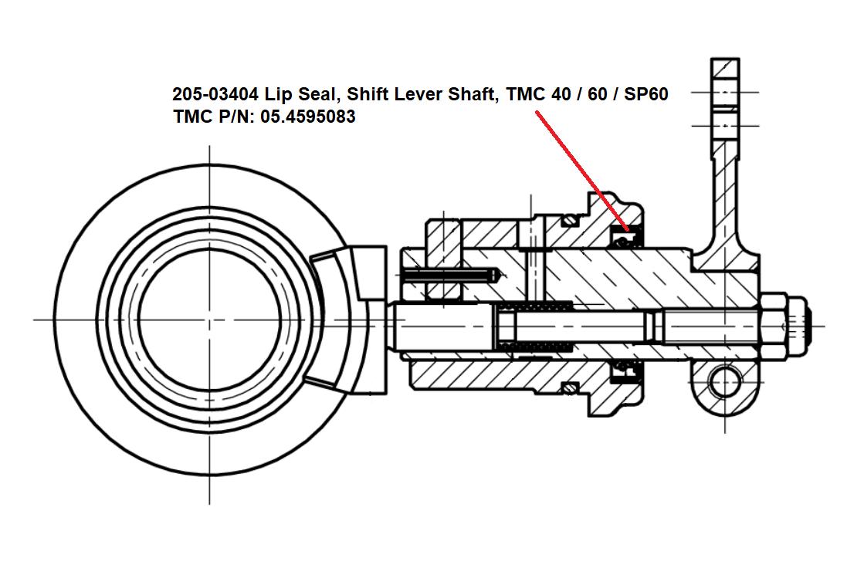 Lip Seal, Shift Lever Shaft, TMC 40 / 60 and SeaProp 60