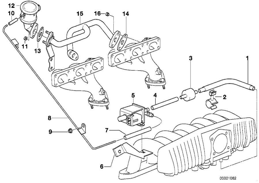 BMW 528i non-return valve. Control, Vacuum, Engine
