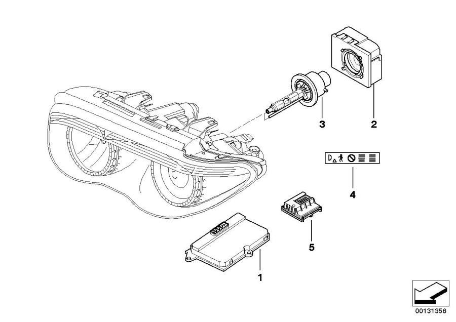 1998 BMW 528i Wagon Manual Bulb Xenon light. D2-S 35W