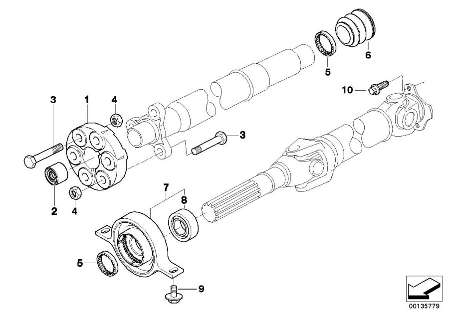 BMW 325i Universal joint. Lk=78mm/d=110mm. Drive, shaft