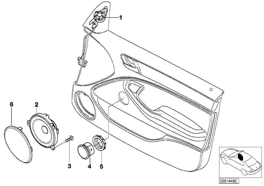 1999 BMW 323i Sedan bass loudspeaker hifi system. 50-7