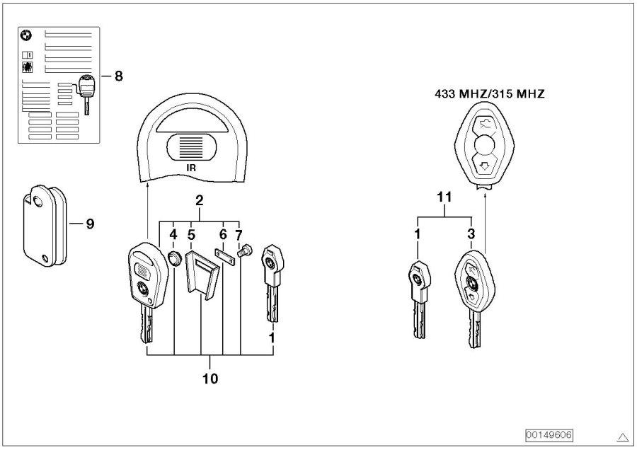 BMW X3 Universal key with remote control. INTERNE NUMMER