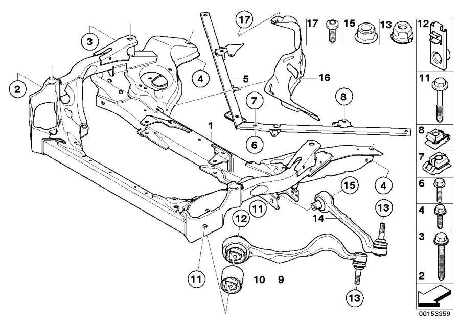 BMW 328i Repair kit, trailing link, left. VALUE LINE. Axle