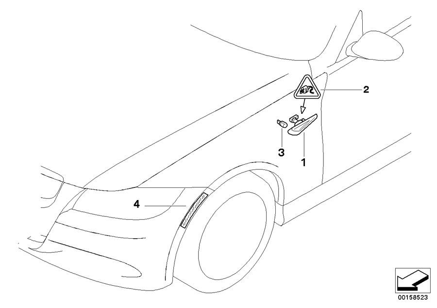 2010 BMW M3 Convertible Repair kit, socket housing