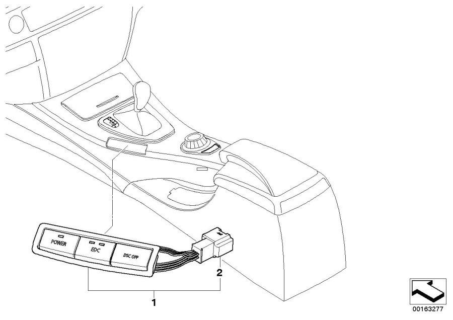 2011 BMW M3 Switch block. EDC. Unit, System, Electrical