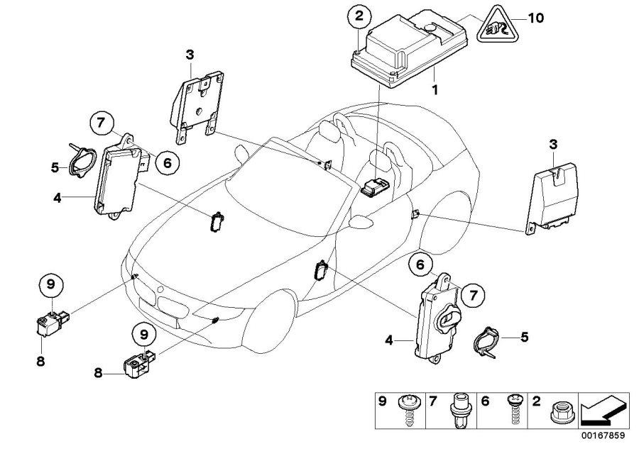 2006 BMW Z4 Convertible 3.0i Sensor, B-pillar right