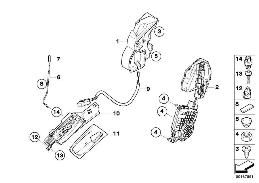 2011 BMW X5 M System latch, left. SCA. DOOR, FRONT