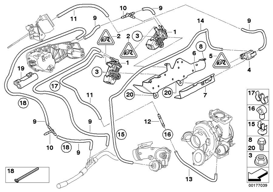 BMW 328d Electric valve. Engine, Exhaust, Vacuum