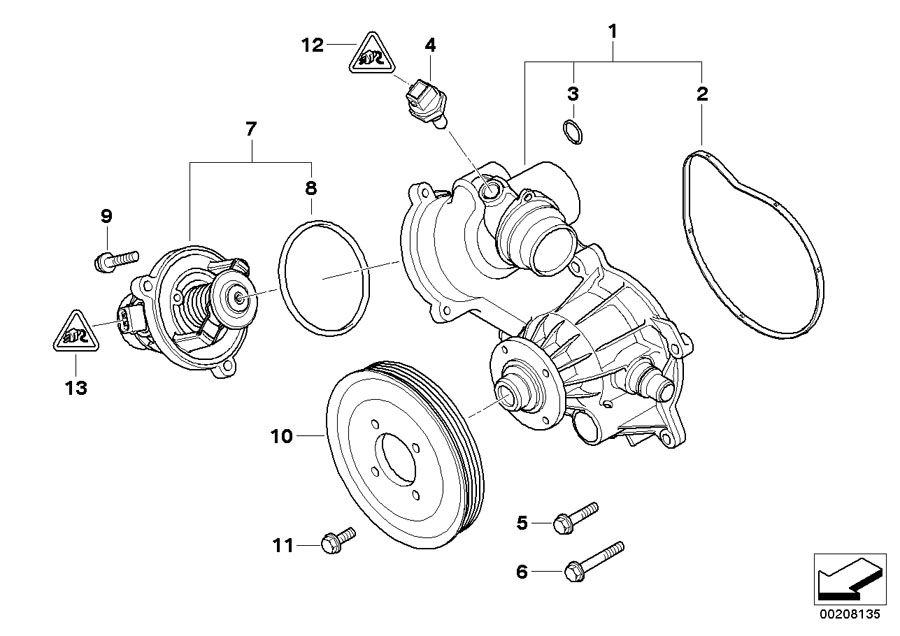 2004 bmw 545i engine diagram