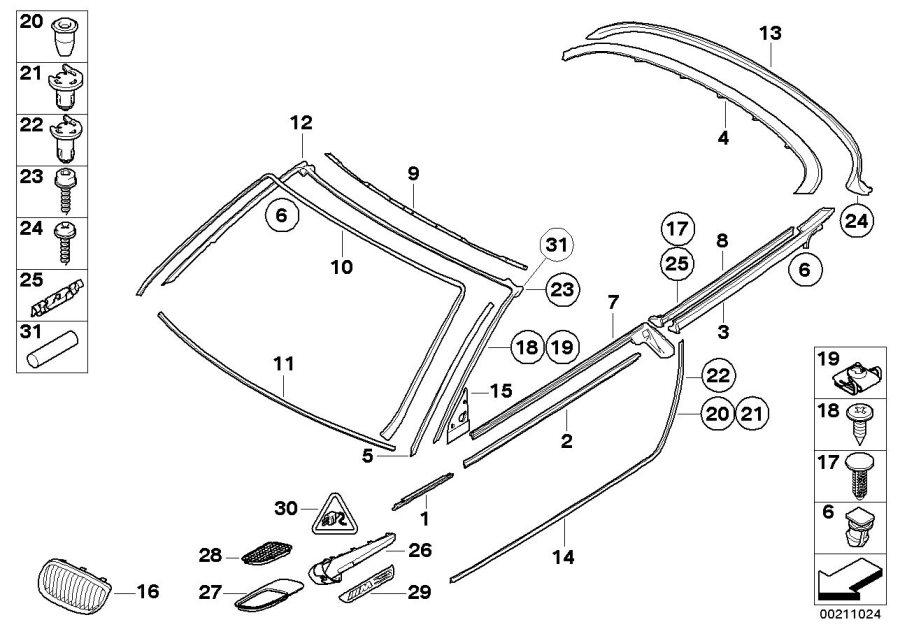 2016 BMW 428iX Butyl cord. D=4mm, l=10m. Trim, body, seals