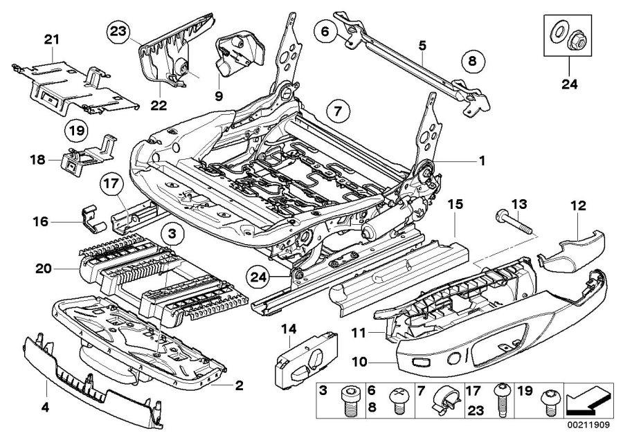 BMW 328d Fillister head screw. M10X37. ALPINA, Seat, Front