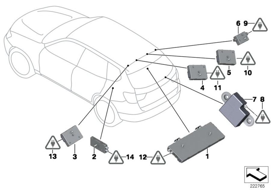 2011 BMW X3 Antenna amplifier Diversity. 315 MHZ