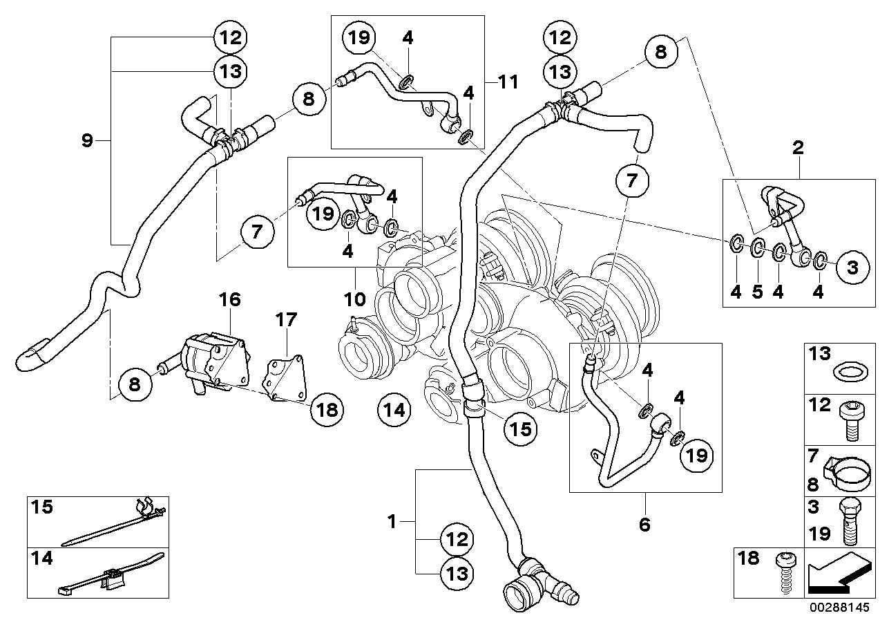 2011 BMW X5 Auxiliary water pump. Engine, Cooling