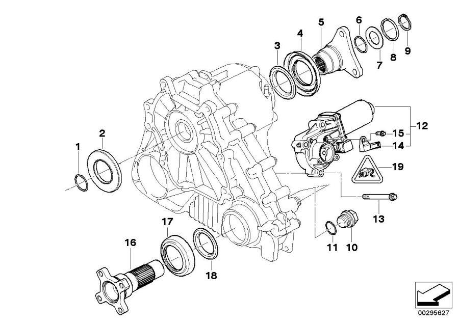 BMW X3 Exchange servomotor. Case, Transfer, Single