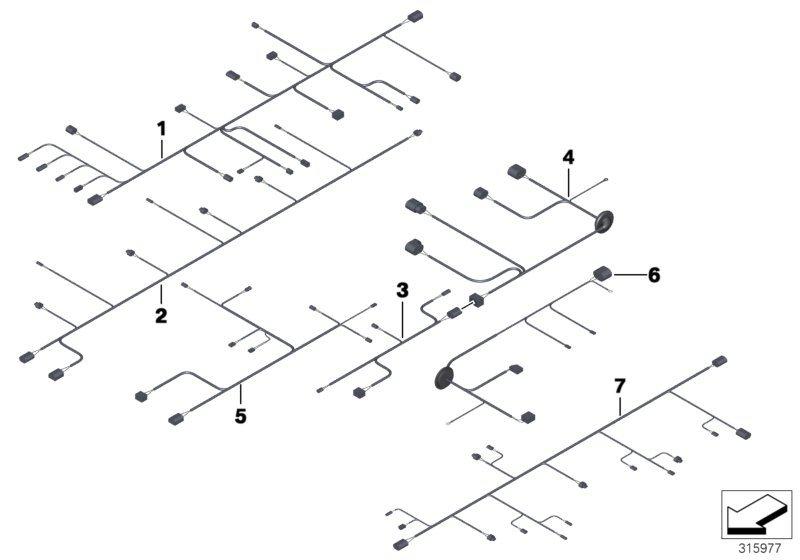 BMW M5 Wiring set, ARS, valve block. ALPINA, Sets