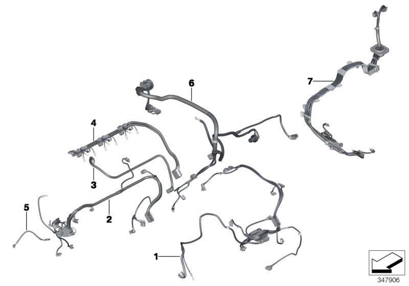 BMW X5 wiring harness, engine ignition module. System