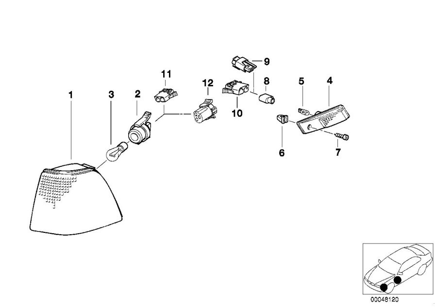 BMW 328i Longlife bulb. Bulbs, Halogen, Headlamp, Marker