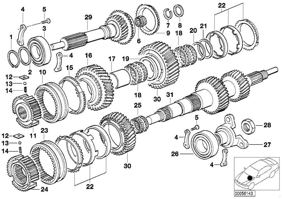 BMW 328i Ball bearing. 35x80x20. Shaft, output, drive