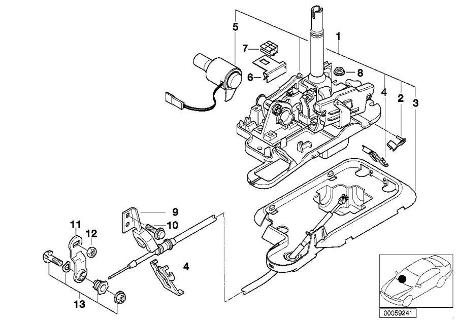 BMW 328i Clamping parts set. Transmission, shift