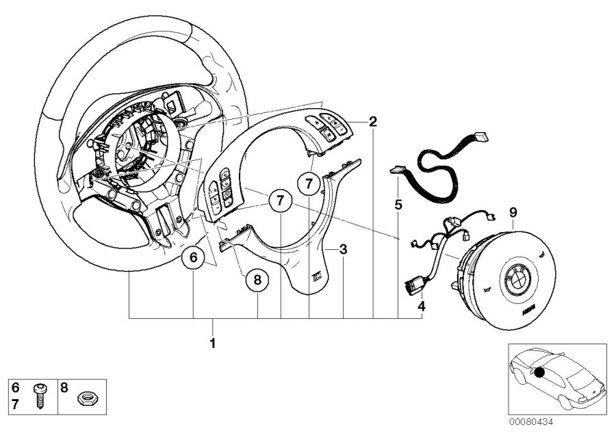 BMW 325i Connecting line, airbag / slip ring. Sports