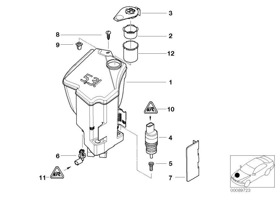 BMW 325i Universal socket housing uncoded. 2 POL. Overview