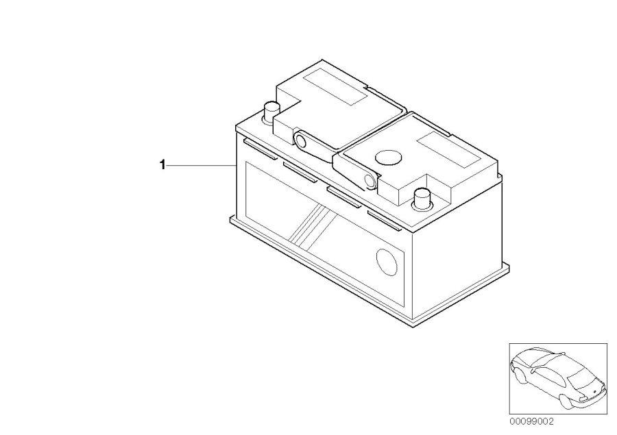 BMW X3 Battery, manuf.: Exide (Warranty Only). 90AH 720A