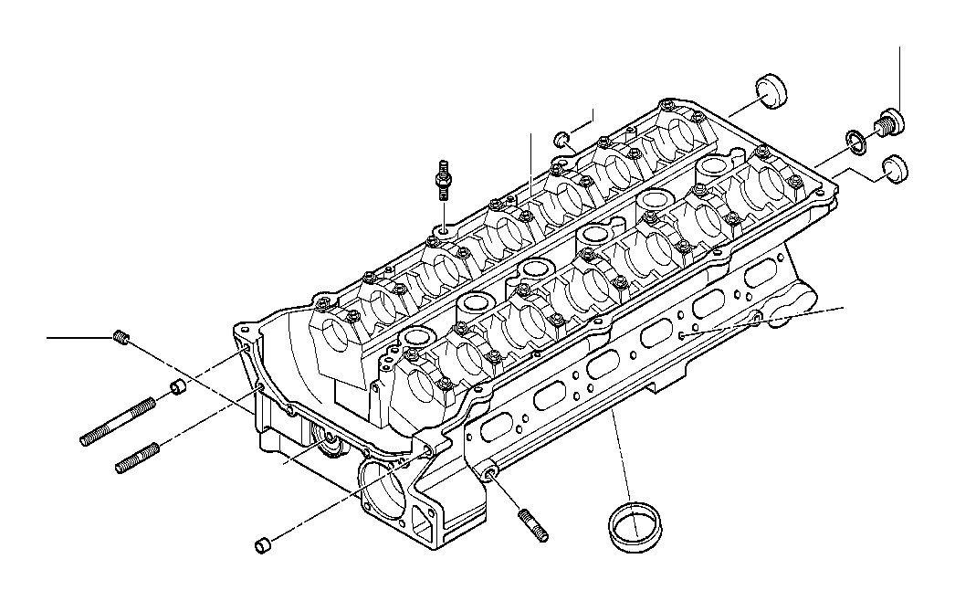 BMW 330i Cylinder Head With Bearing Ledges. Engine