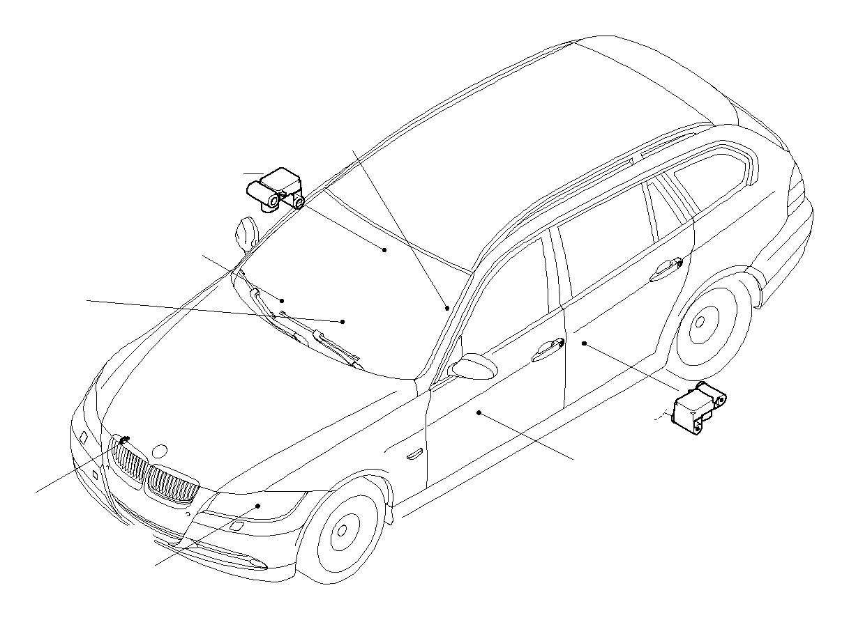 Bmw 328xi Sedan Accelerating Sensor Electric Airbag