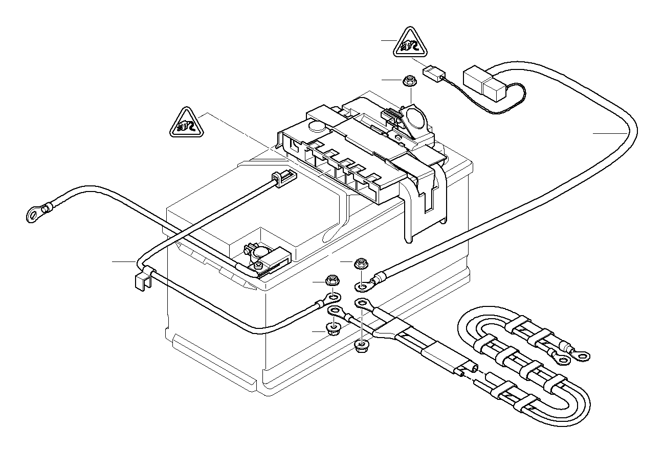 BMW 328d Flange nut. M8. Distribution, Ground