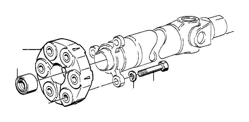 BMW 325i Centering sleeve. Hardy, Propeller, Flexible