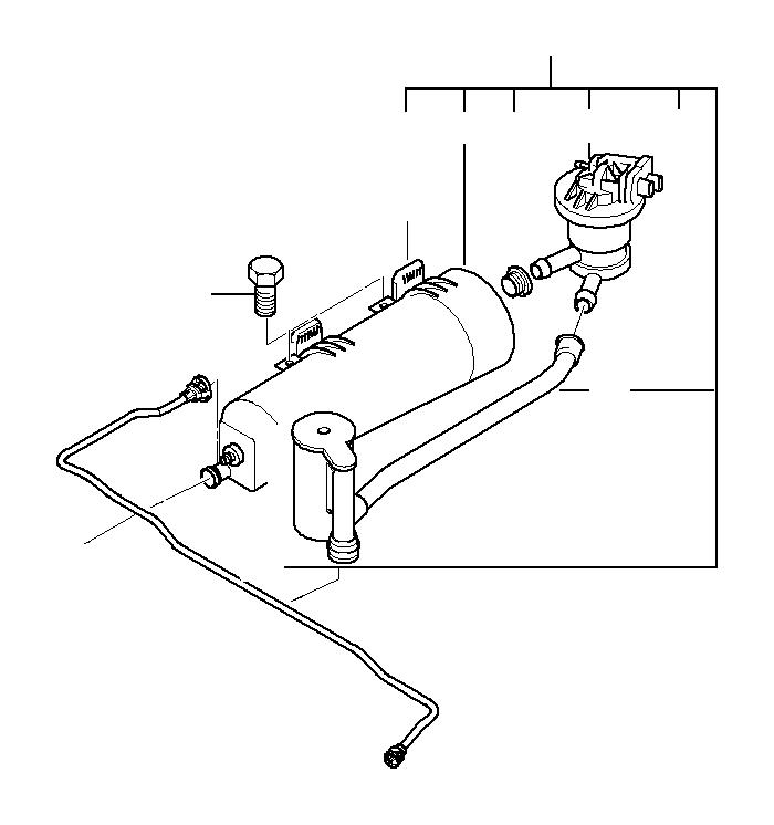 2004 BMW Leak diagnosis pump. ALPINA, FUEL, Activated