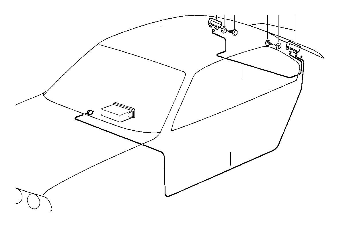 1992 BMW 318i Sedan Manual Amplifier. Single, Antenna