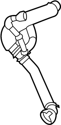 BMW 550i Coolant hose. Cooling, Hoses, System