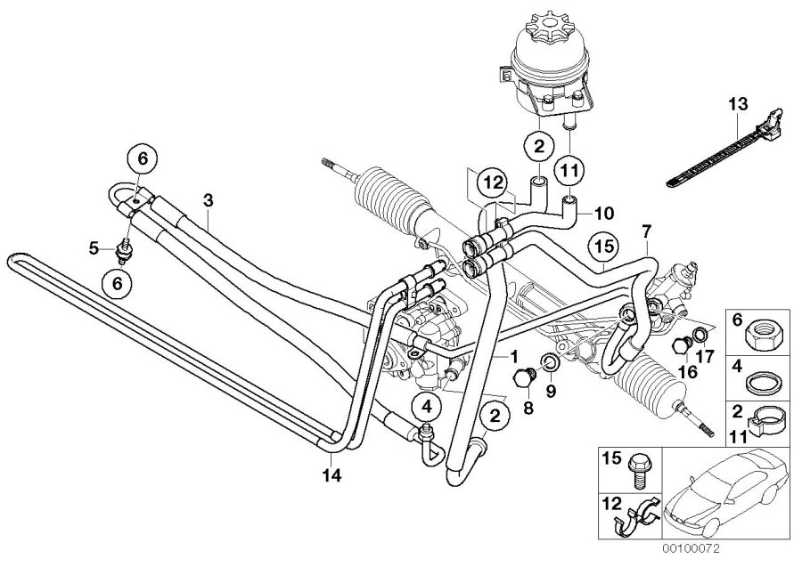 BMW X5 Cooling coil. Suspension, steering, hydraulic