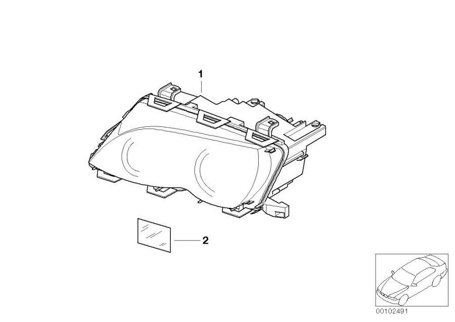 BMW 325i Bi-xenon headlight, left. AL. System, Electrical