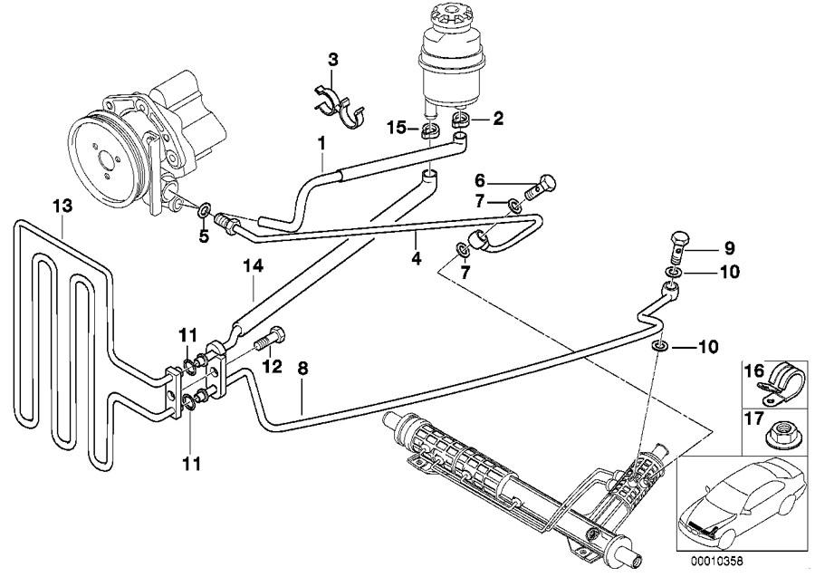 BMW 525i Intake manifold. Suspension, Steering, Hydraulic