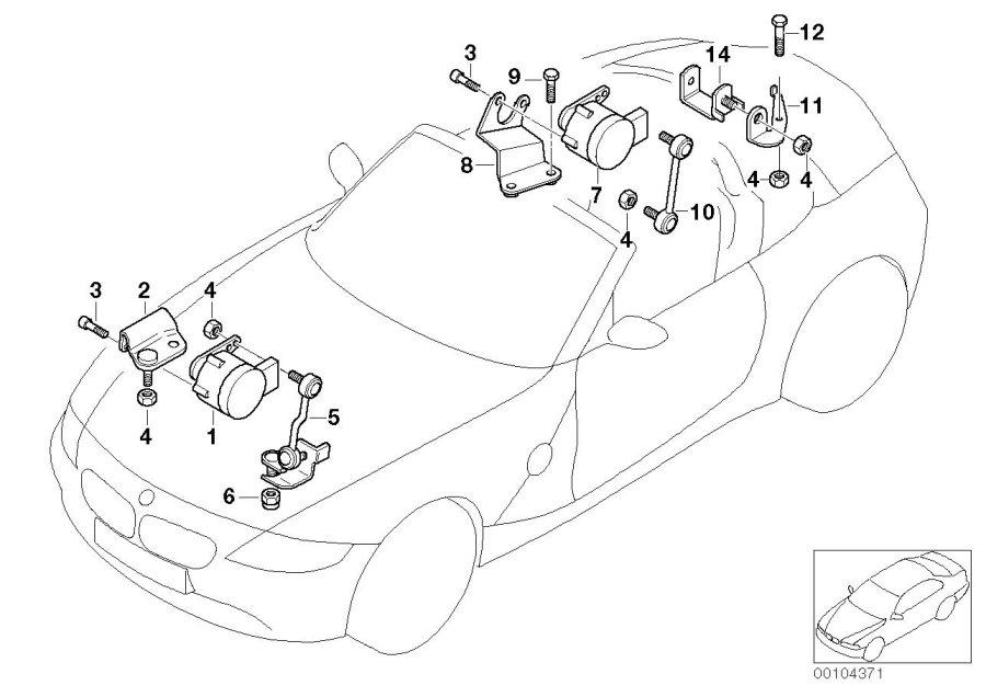 BMW Z4 Bracket, level sensor, right. Suspension, Axle, Aim