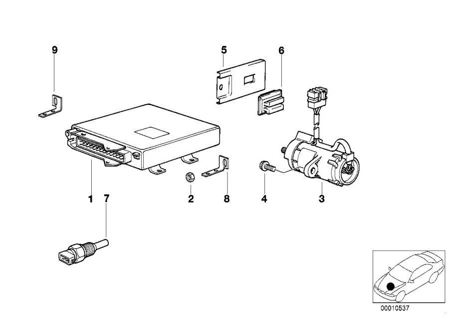 BMW 850Ci Eml control unit. Units, system, electrical