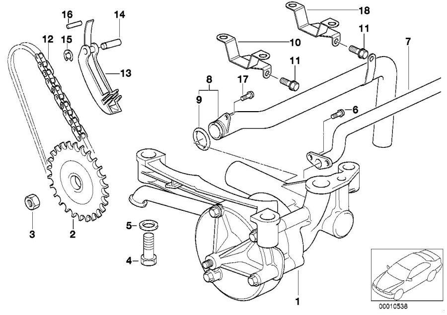 BMW M3 Oil pump. System, Lubrication, Engine, Drive