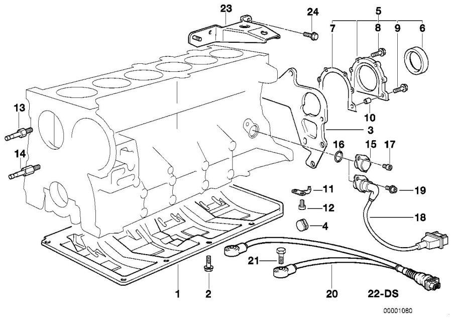 BMW Z3 Pulse generator, crankshaft. Engine, System