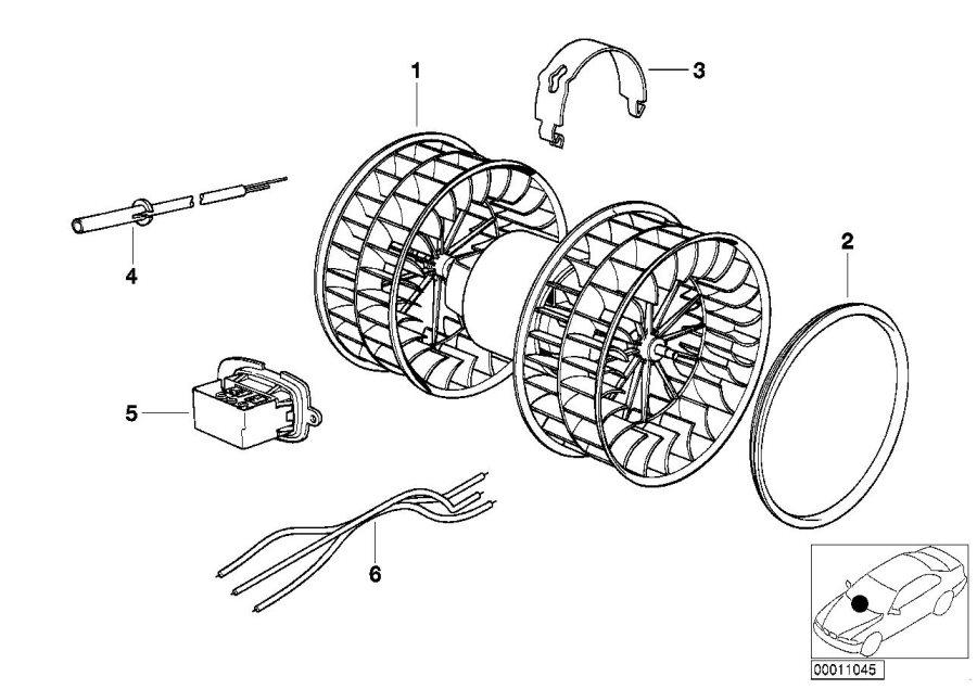 BMW M5 3.6 Repair kit temperature sensor. Heater, electric