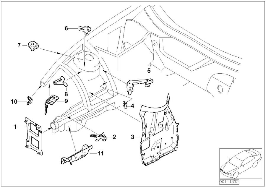 BMW Z4 Mount for strut brace. Body, Front, Trim