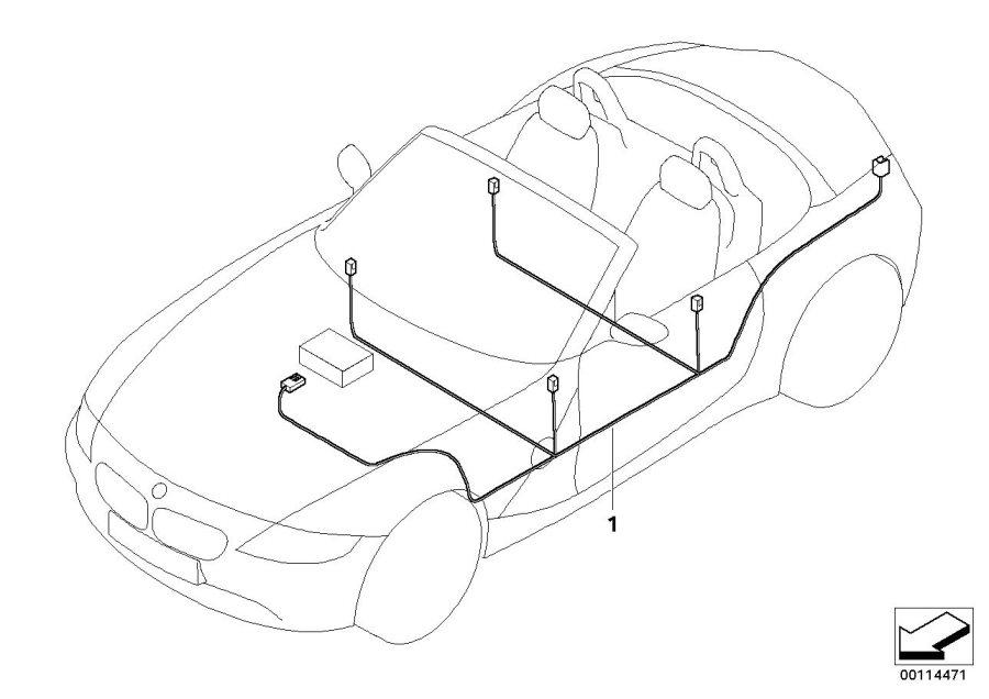 BMW Z4 Audio wiring harness HiFi. System, Electrical