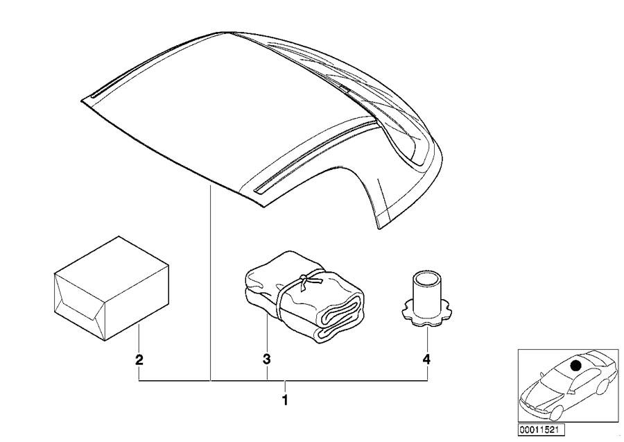 BMW Z3 Retrofit kit, hardtop. VELVETBLUE 379. Exterior