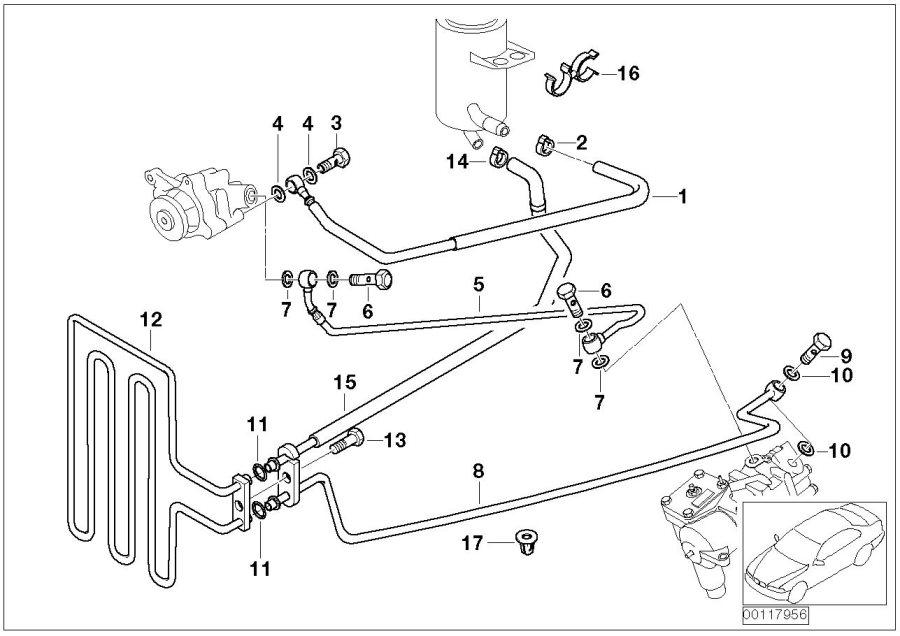 BMW 540i Hollow bolt. M18x32. Bavaria, steering, oil