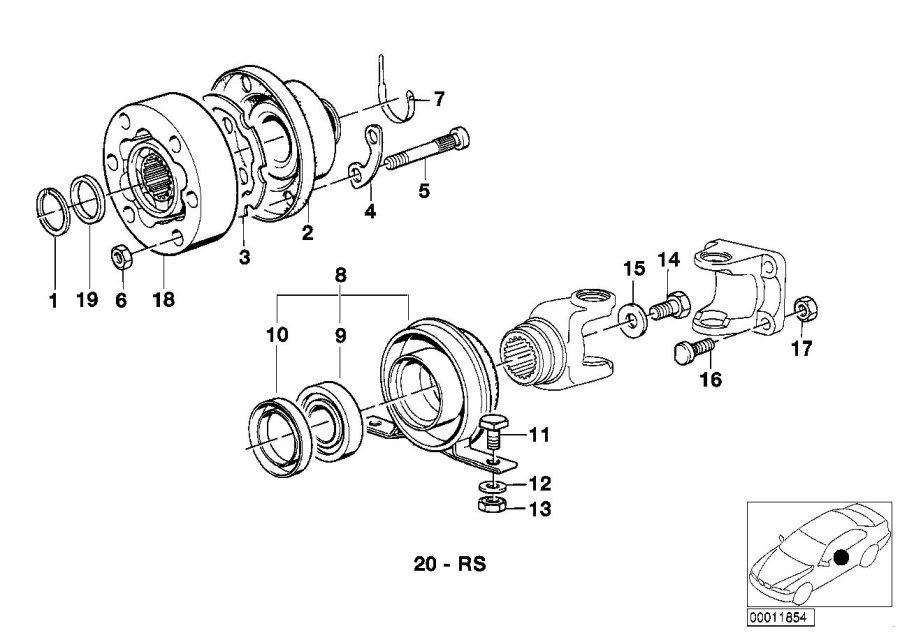 BMW 535i Reinforcement. D=9MM/PHR. Shaft, Drive, JOINT