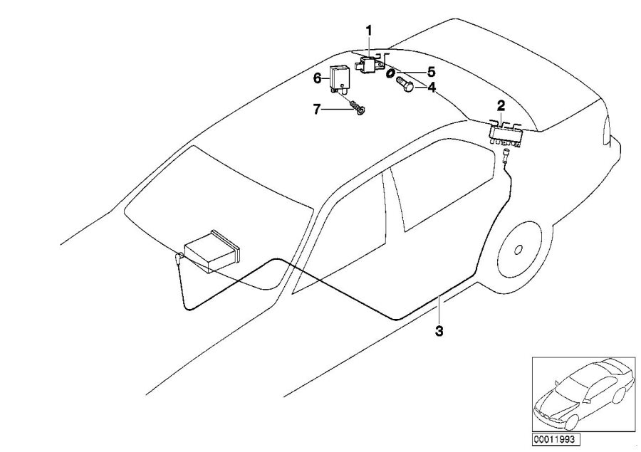 BMW 540i Amplifier. Single, Antenna, Electrical