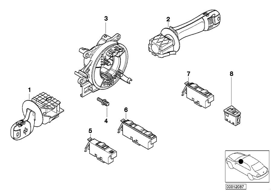 BMW 325Ci Switch, window lifter, driver's side. System